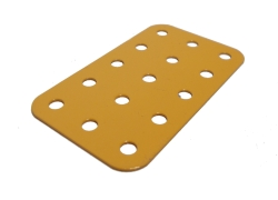 Flat Plate 5x3 holes, UK Yellow