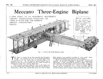 THREE ENGINE BIPLANE