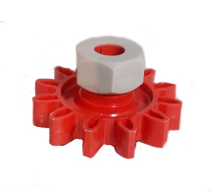 Gear Wheel (12 Teeth) with Collet Nut