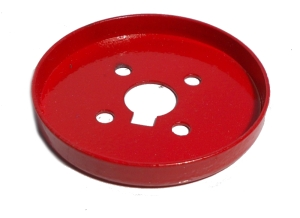 Wheel Flange 56mm dia, red