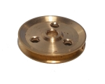 Pulley 25mm dia without boss, brass