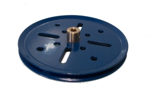 Pulley 75mm dia (blue)