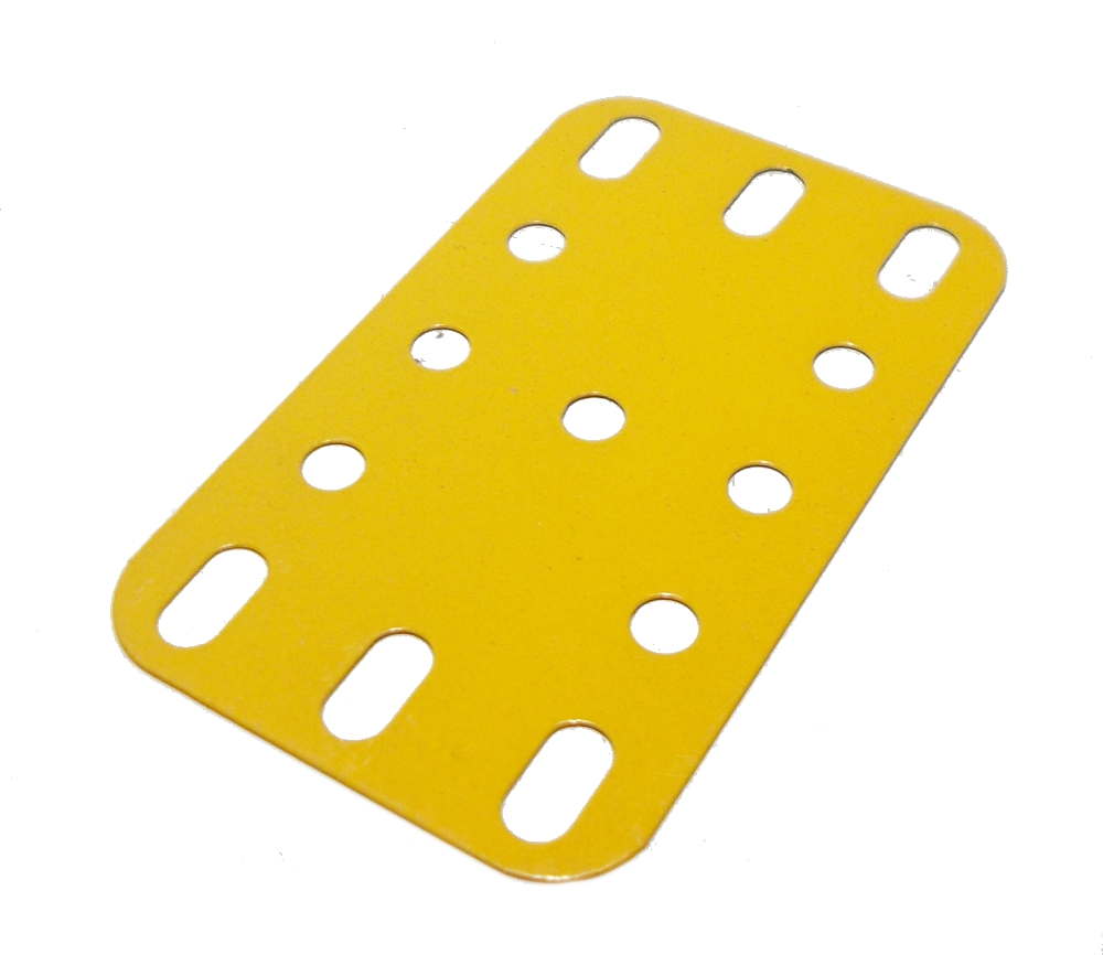 Flexible Plate 5x3 holes, yellow