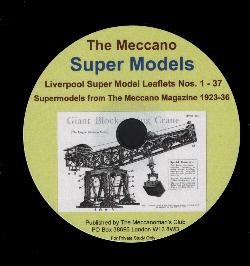 Meccano Super Model Leaflets on CD