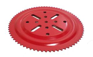 Ball Bearing Sprocket Toothed Tray, red