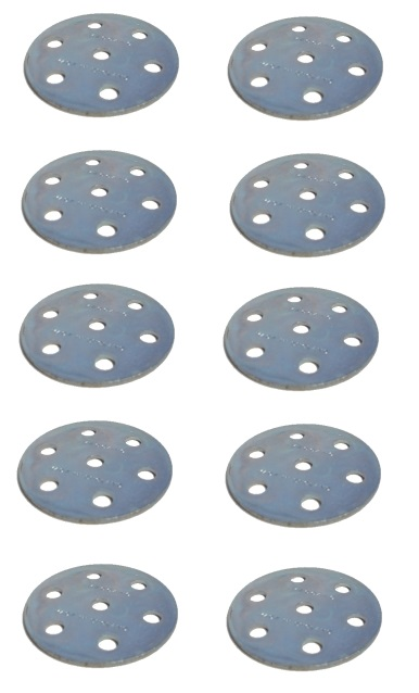 10 x Wheel Disc 6 holes, zinc  ** SAVE **