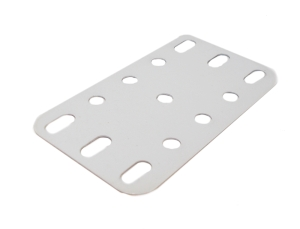 Plastic Plate 3x5 holes, white