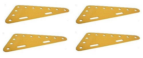 4 x Triangular Plate 7x4 holes (SAVE 50%)