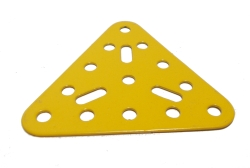 Triangular Flat Plate, 5x5 holes (yellow)
