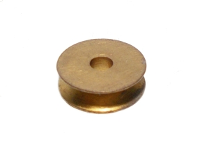 Pulley 13mm dia without boss, brass (used)