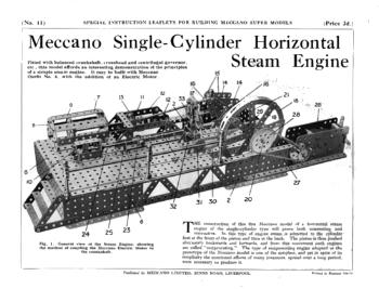SINGLE CYLINDER HORIZONTAL STEAM ENGINE