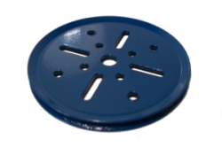 Pulley 75mm dia without boss (blue)
