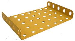 Flanged Plate 7x5 holes (UK Yellow)