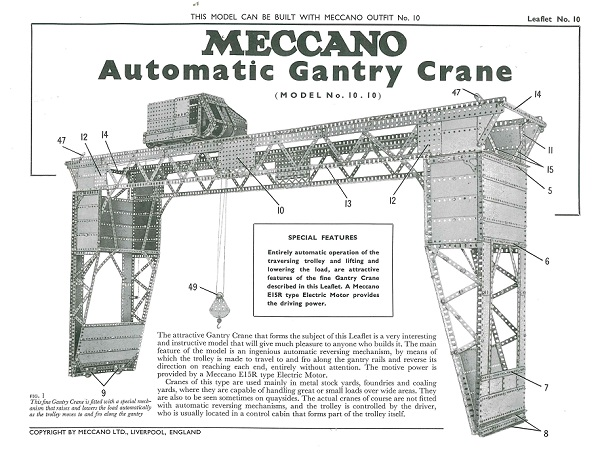 AUTOMATIC GANTRY CRANE