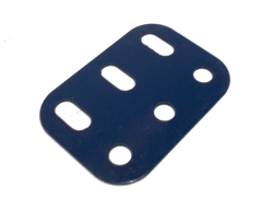 Flat Girder 3 holes, UK Dark Blue
