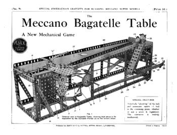 BAGATELLE TABLE