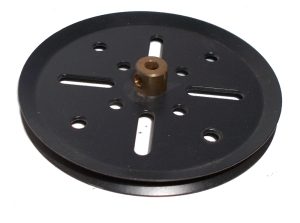 Pulley 75mm dia (black)