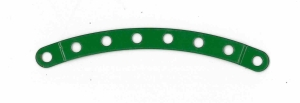 Narrow Curved Strip (stepped) 8 holes (green)