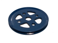 Pulley 50mm dia without boss (blue)