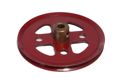 Pulley 50mm dia  - 1930's red