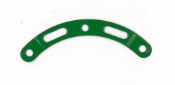 Narrow Curved Strip (stepped) 6 holes (green)
