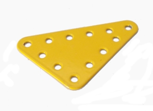 Triangular Flat Plate 4x5 holes (yellow)