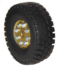 Wide Treaded Tyre for 2x38mm Pulleys