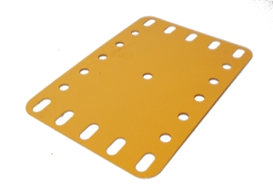 Flexible Plate 7x5 holes, UK Yellow
