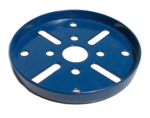 Wheel Flange 63.5mm dia, blue