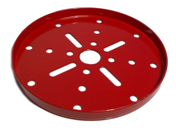 Wheel Flange 89mm dia, red