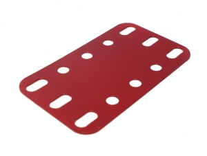 Plastic Plate 5x3 holes, red