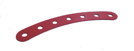 Curved Strip 7 holes, red