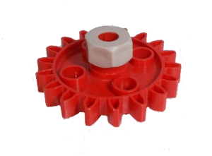 Gear Wheel (18 Teeth) with Collet Nut