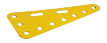 Triangular Flexible Plate 7x3 holes - yellow