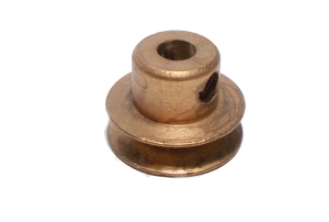 Pulley 13mm dia, brass (used)