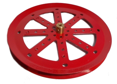 Pulley 150mm dia (red)