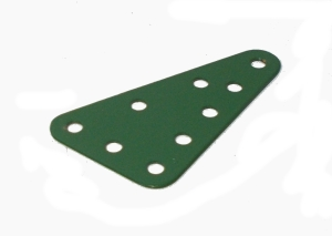 Triangular Flat Plate 3x5 holes (green)