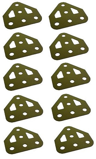 10 x Flat Trunion, Army green (ex-multikit)  *** SAVE 1/3 ***