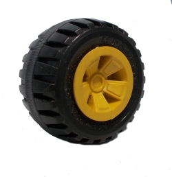 Road Wheel 50mm dia (brass boss)