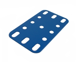Flexible Plate 5x3 holes, French blue