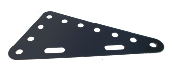 Triangular Flexible Plate 7x4 holes - dark grey