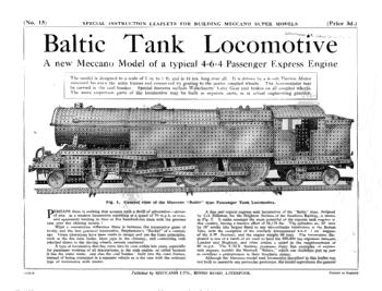 BALTIC TANK LOCOMOTIVE
