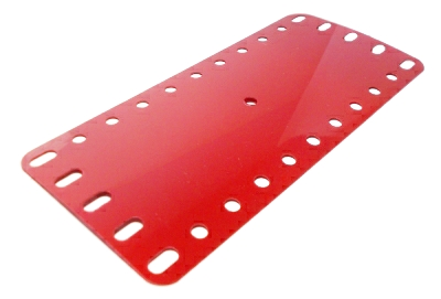 Plastic Plate 11x5 holes, bright red