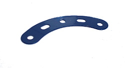 Curved Strip 5 holes, stepped, UK Dark Blue