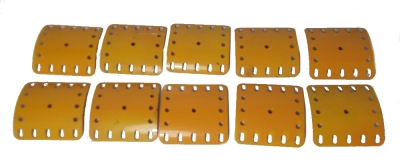 Curved Plate 5x5 holes - UK yellow