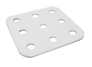 Flat Plate, 3x3 holes - white