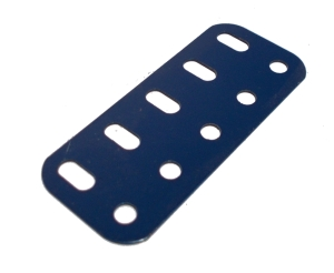 Flat Girder 5 holes, UK Dark Blue