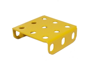 Flanged Plate, 3x3 holes - yellow