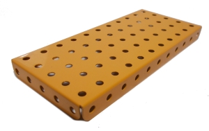 Flanged Plate 11x5 holes, UK Yellow