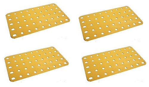 Flat Plate 9x5 hole (UK Yellow)